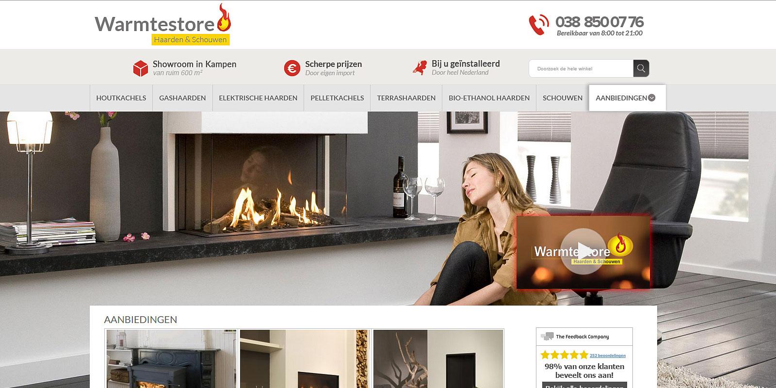 magento webshop warmtestore
